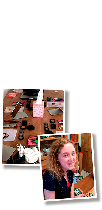 Teen make up class in Brighton
