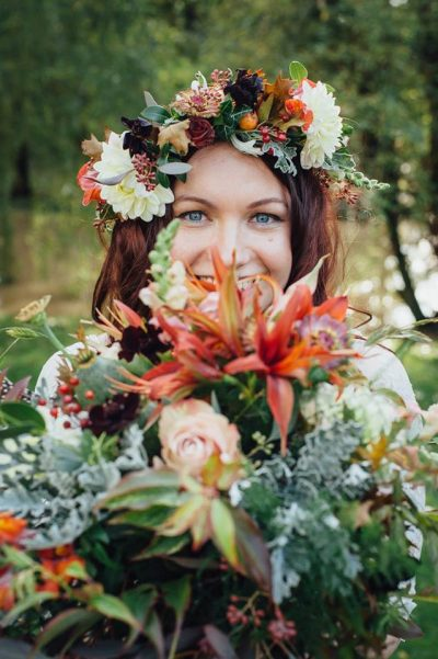 Boho flower crown hair