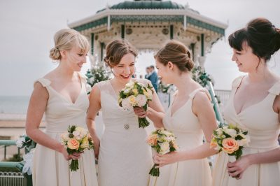 Brighton Bandstand Seaside Wedding Photographer - wedding hair and make up