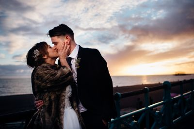 Brighton beach wedding