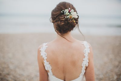 Brighton messy updo wedding hair