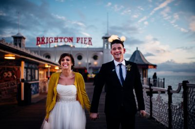 Brighton pier wedding