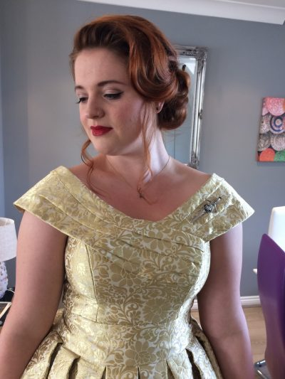 Vintage wedding hair and make up