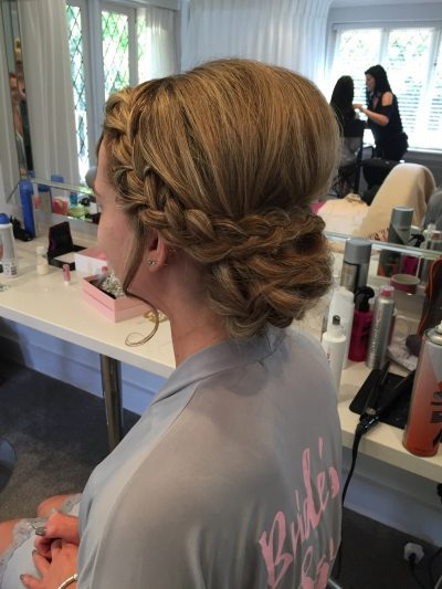 braided updo bridal