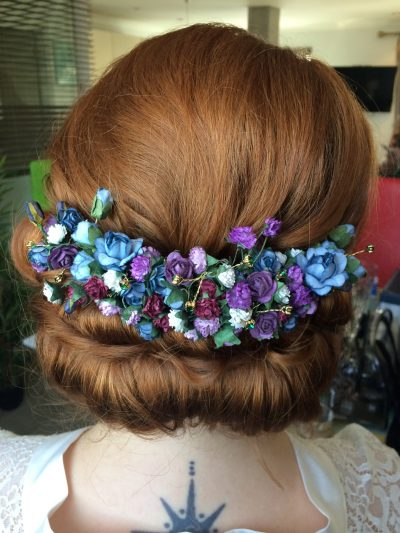 bride hair roll