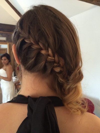 bridesmaid braid to side