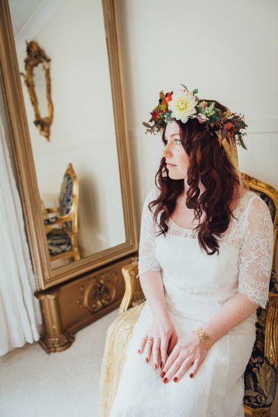 flower crown boho wedding