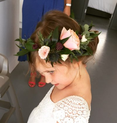 flowergirl flower crown