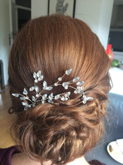 natural updo wedding